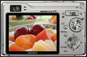 Sony DSC-W80 Manual - camera rear side