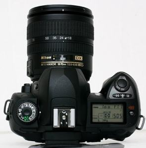 Nikon D70 Manual - camera top side