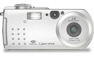 Sony DSC P3 Manual - camera front face