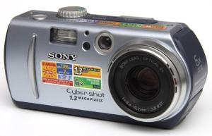 Sony DSC P30 Manual - camera front face