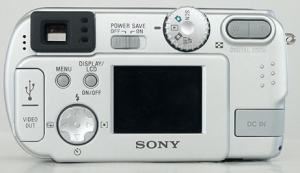 Sony DSC-P31 Manual - camera back side