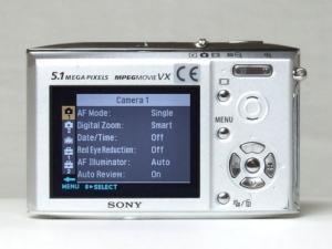 Sony DSC-T5 Manual - camera rear side