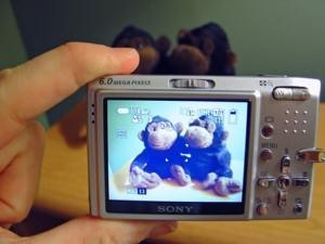 Sony DSC-T9 Manual -camera rear side