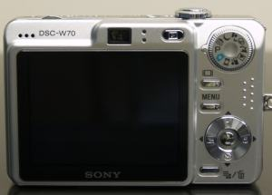 Sony DSC-W70 Manual - camera rear side