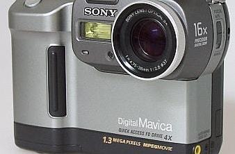 Sony MVC-FD88 Manual - camera front side