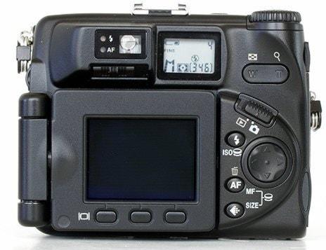 Nikon CoolPix 5000 Manual - camera rear side