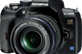Olympus E-600 Manual User Guide and Product Specification