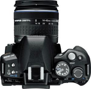 Olympus E-600 Manual - camera top plate