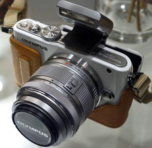 Olympus E-PL3 Manual - camera top side