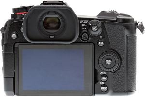 Panasonic Lumix G9; camera rear side