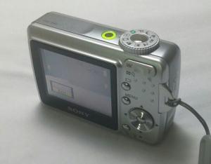 Sony DSC S45 Manual - camera rear side