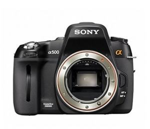 Sony DSLR-A500L Manual - camera front face