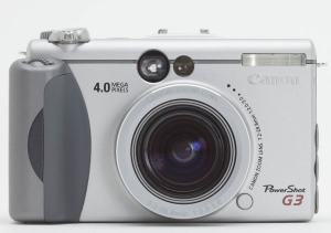 Canon PowerShot G3 Manual - camera front side