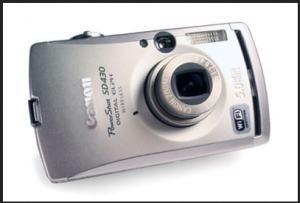 Canon PowerShot SD430 Manual - camera front face