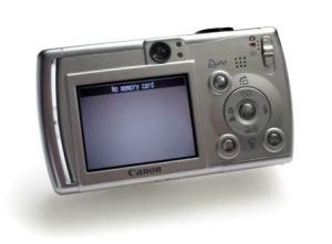 Canon PowerShot SD430 Manual - camera rear side