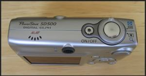 Canon PowerShot SD500 Manual - camera side