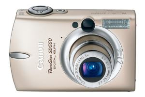 Canon PowerShot SD550 Manual - camera front face