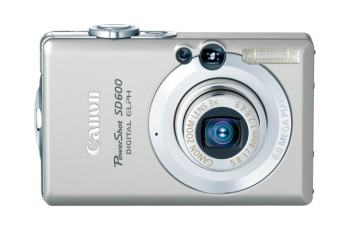 Canon PowerShot SD600 Manual - camera front face