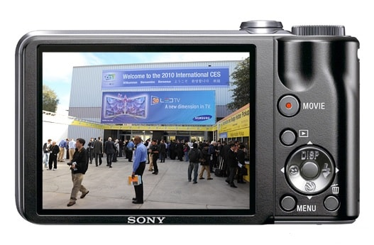 Sony DSC HX5 Manual - camera rear side