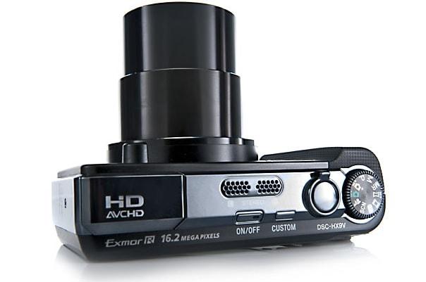 Sony DSC HX9V Manual -camera sides with lens