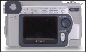Sony DSC S70 Manual - camera rear side