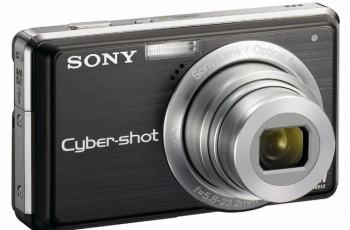 Sony DSC S980 Manual - camera front face