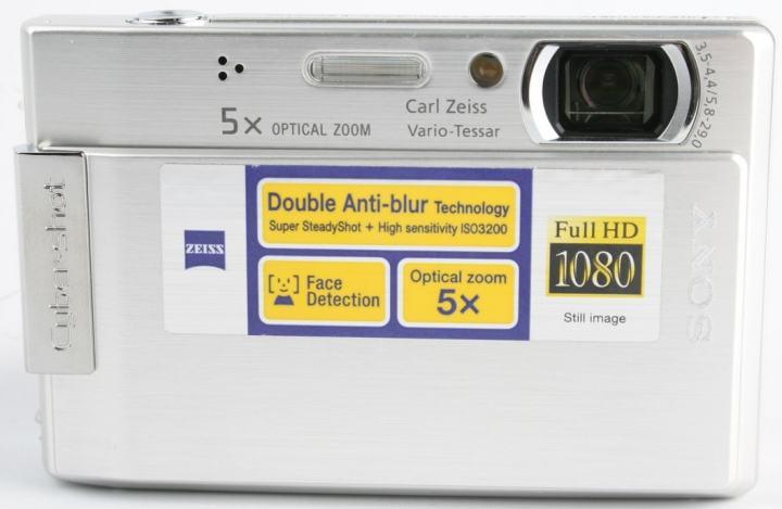 Sony DSC T100 Manual - camera front side
