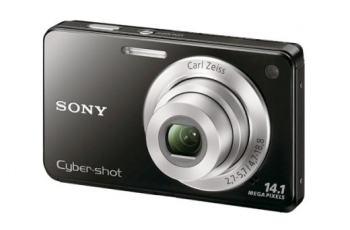 Sony DSC W560 Manual - camera front face