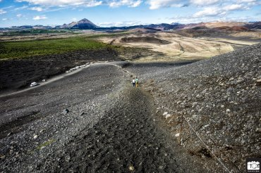 Climbing the Hverfjall Cone