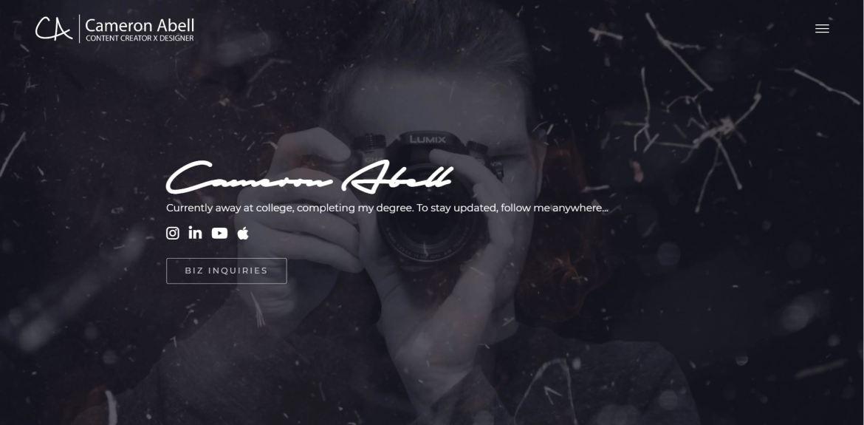 Cameron Abell Portfolio Website