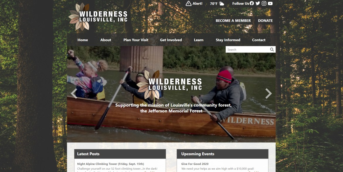 Wilderness Louisville Website Prototype