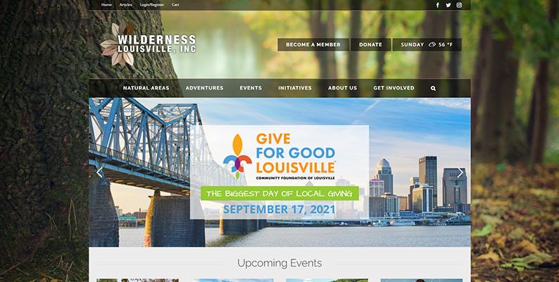 Wilderness Louisville Website Prototype
