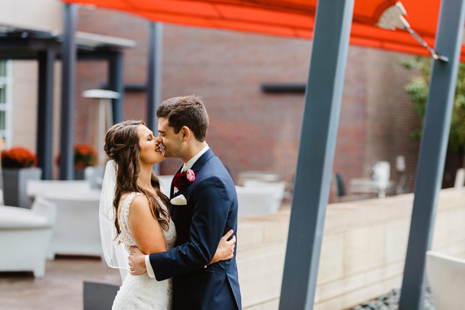 Stunning Wedding with Joyful Bride and Groom Experiencing their wedding day