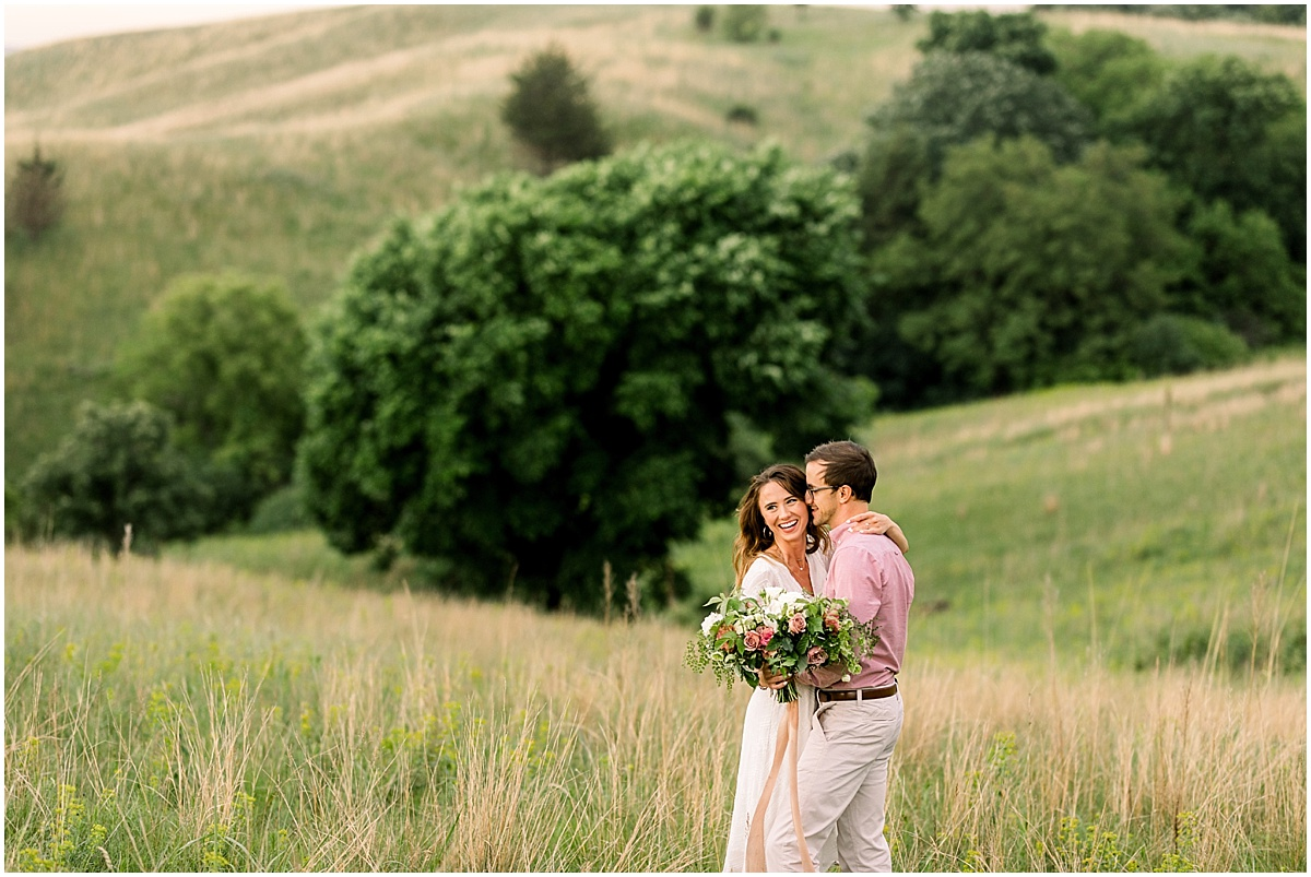 Romantic Hillside Engagement Session Minneapolis Photographer