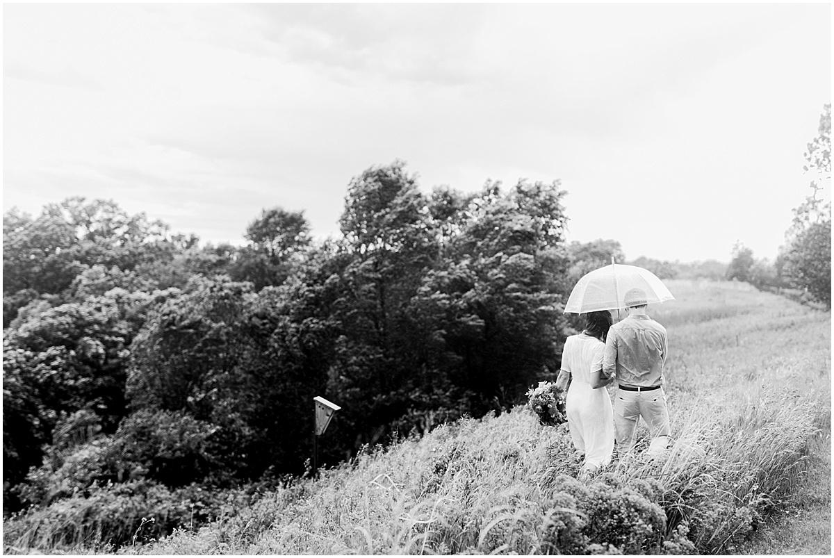 Hillside Rain engagement session