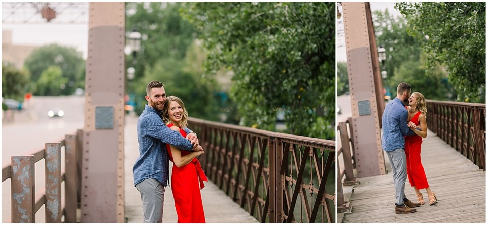 Trendy St Anthony Main Engagement Session