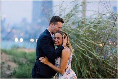 Chicago Destination Couples Session by Cameron and Tia Destination Wedding Photographers at North Ave beach