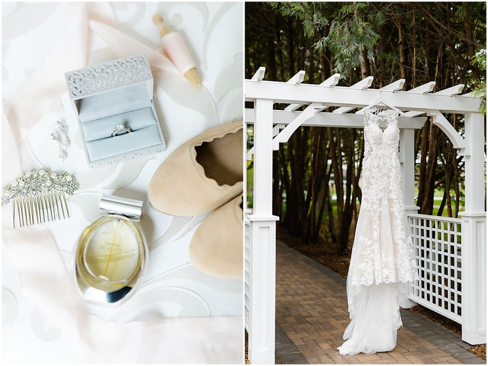 Bearpath Golf and Country Club Spring Wedding dress and details