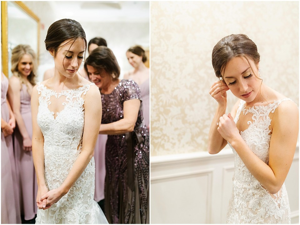 Bearpath Golf and Country Club Spring Wedding bride getting ready in bridal suite