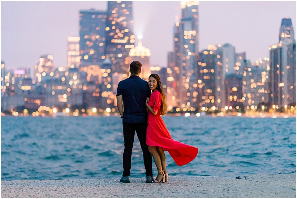 Chicago Destination Travel Engagement Session Cameron and Tia Photography