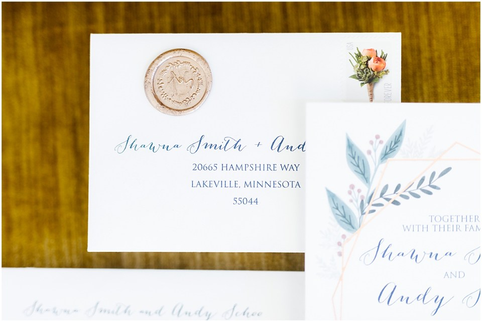 Invitations by Carlson Craft The Capitol Room St. Peter Mankato Area Wedding by Cameron and Tia Photography