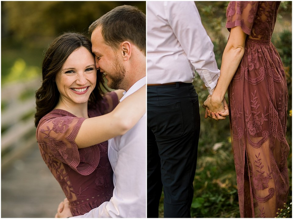 Beautiful Mauve Dress for engagement sessions
