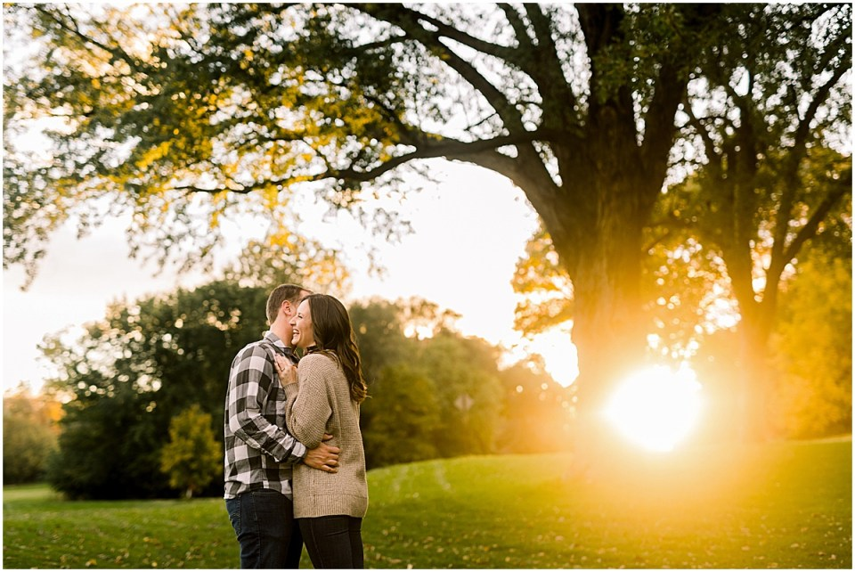 Cute Theodore Wirth Parkway Engagement Session