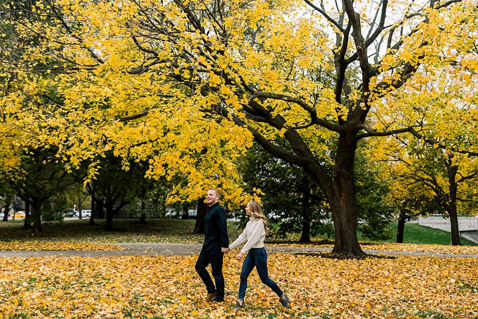 Lincoln Park Fall Engagement Session Chicago