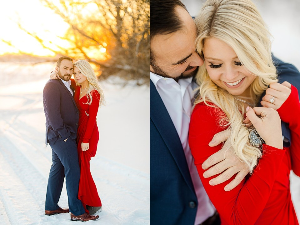 Tips for Engagement Session Makeup Trials stunning red dress