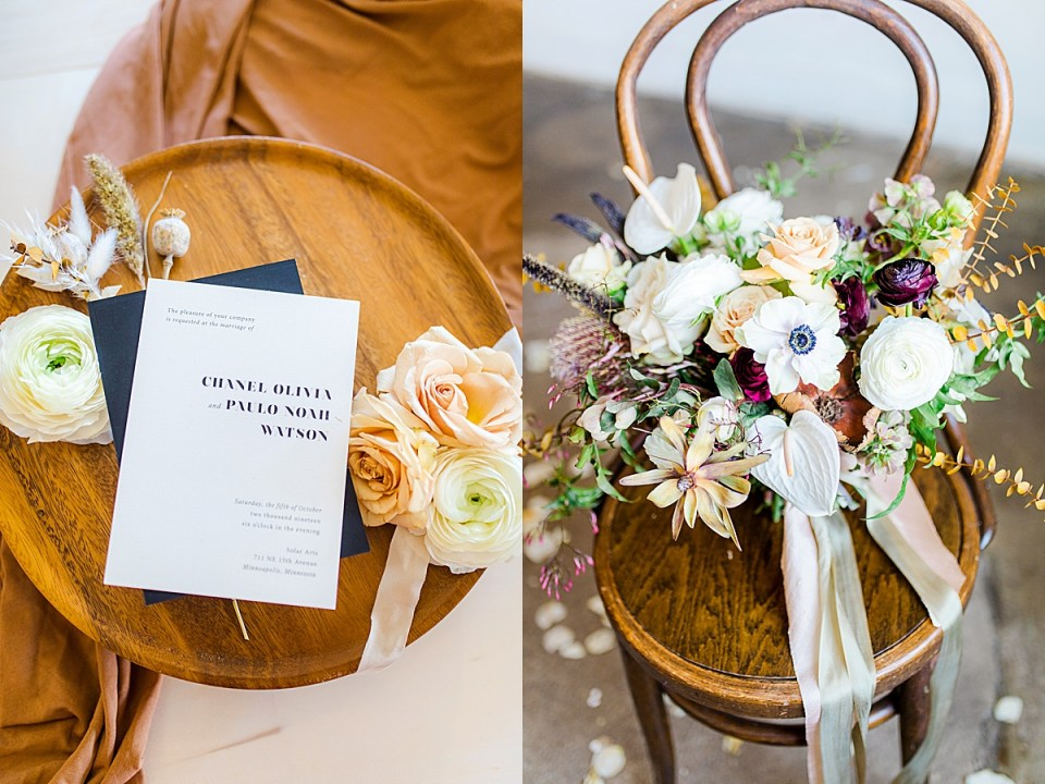 Florals by MAVEN and invite by Champagne Press