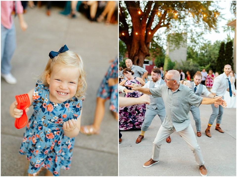 Outdoor Dance Floor Erickson Farmstead Wedding