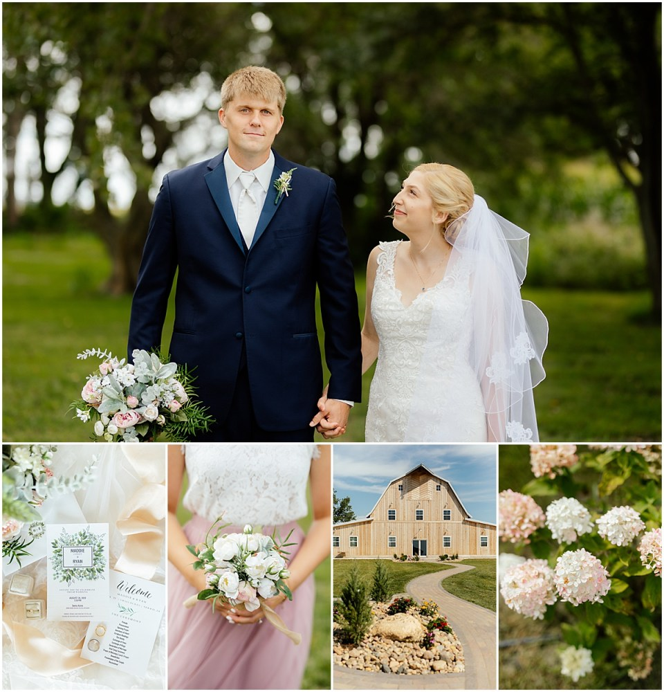 Swiss Acres Barn Wedding in Okoboji Iowa
