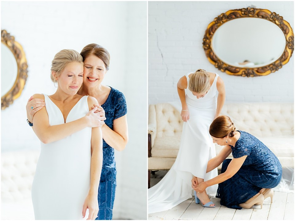 Bride getting ready in Brainerd Lakes Area at The Loft at NP Event Space