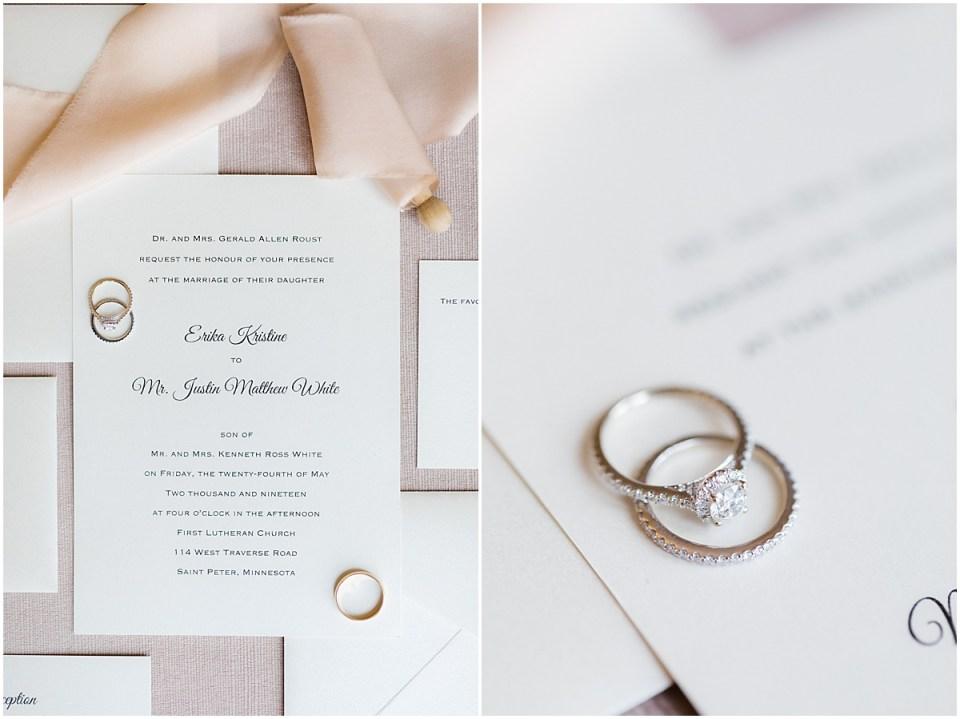 Light blush wedding details